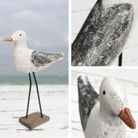 Rustic Wooden Seagull